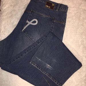 Pelle pelle Jeans 42x34 some wear and tear see pic